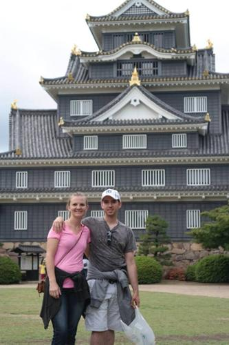 Katie and Shea in Japan.